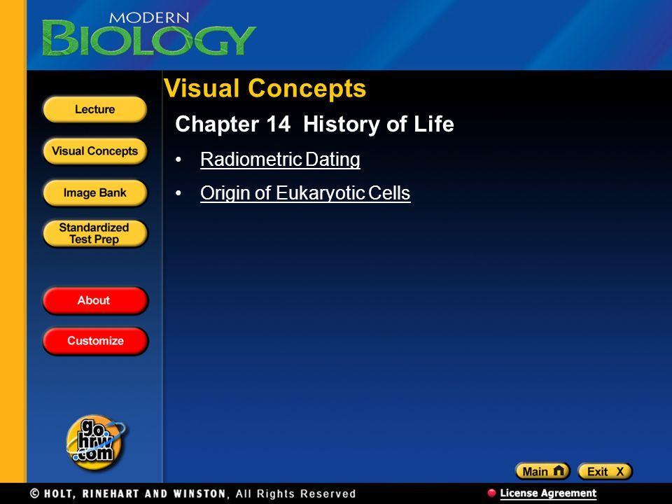 Visual Concepts Chapter 14 History of Life Radiometric Dating Origin of Eukaryotic Cells