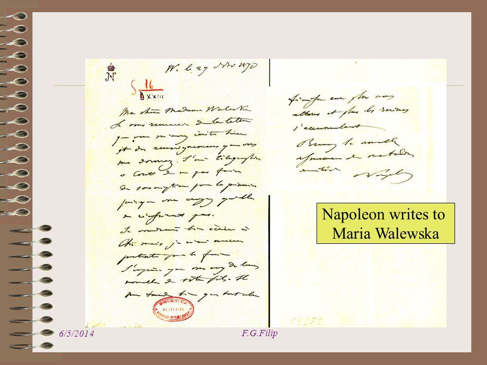 6/5/2014 F.G.Filip Napoleon writes to Maria Walewska