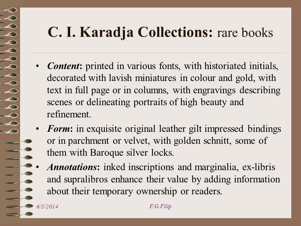 Content: printed in various fonts, with historiated initials, decorated with lavish miniatures in colour and gold, with text in full page or in column