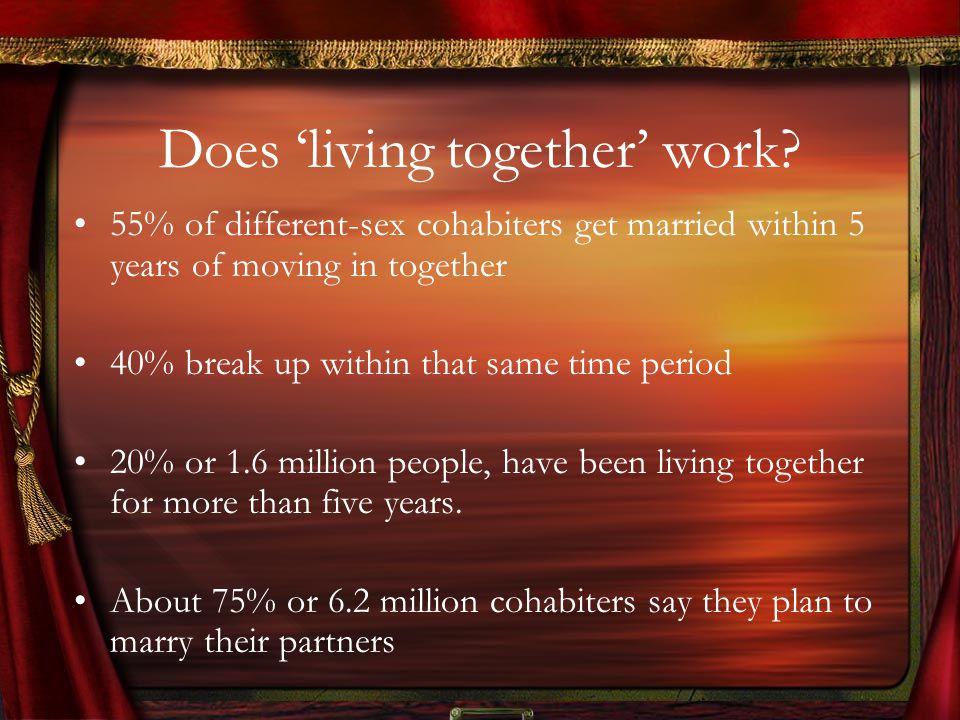 Does living together work.
