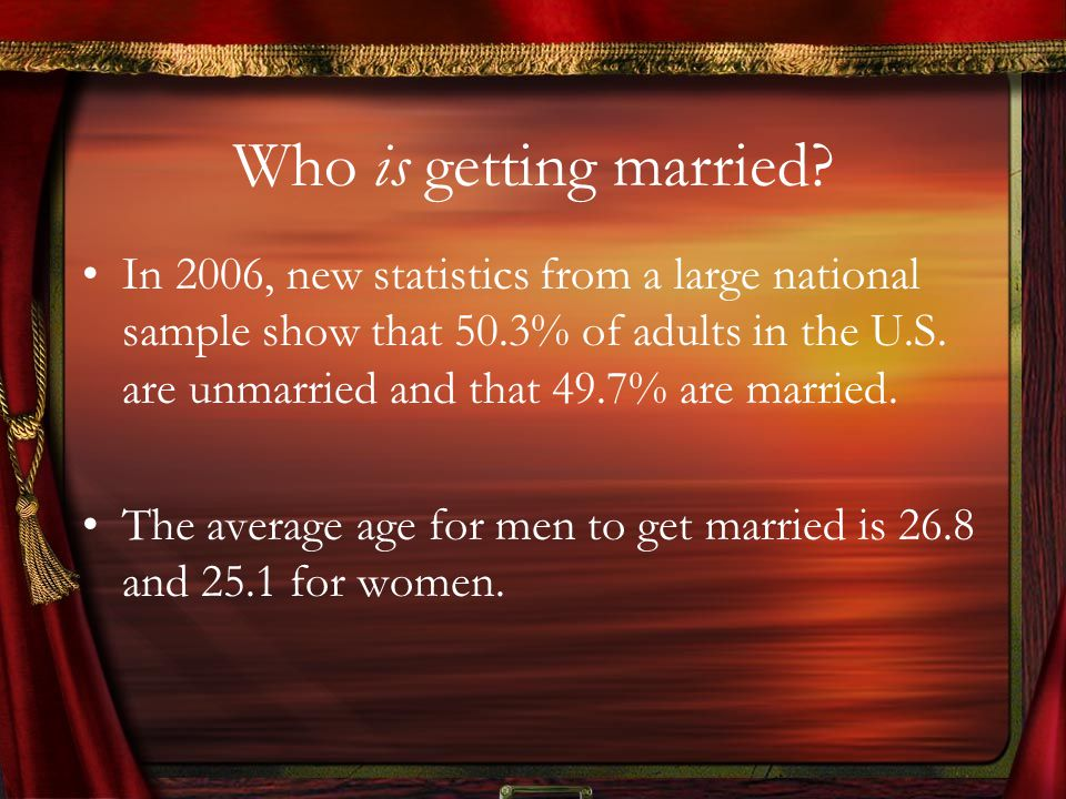 Divorce 50% or 41% of American marriages end in divorce depending on which statistics are used 43% of first marriages end in separation or divorce within 15 years.