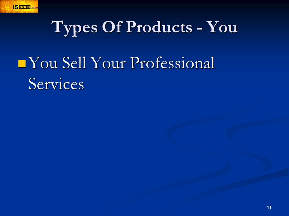 11 Types Of Products - You You Sell Your Professional Services You Sell Your Professional Services
