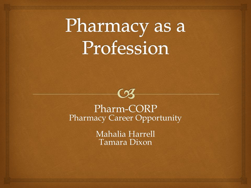 What do pharmacists do?