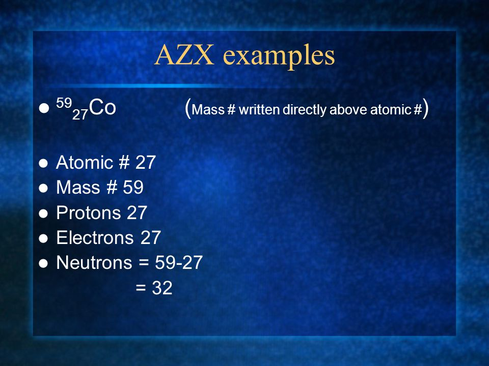 Atomic Mass and Mass Number C.