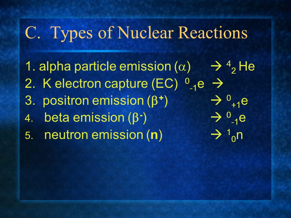 Chapter 19 - Radioactivity I. Radioactivity - the phenomenon of rays being produced spontaneously from unstable atomic nuclei A. Three forms of natura