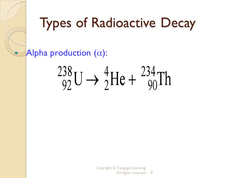 Showing Alpha Decay ~expulsion of 2 p + and 2 n o Show the alpha decay of Radon-222.