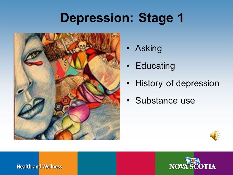 Present Pregnancy Depression – Stage 1 & 2 http://www.bcwomens.ca/NR/rdonlyres/483927DE-698E-42A7-89E5- 6E7080D6ABA9/18624/Perinatal_Brochure1.pdf Ble