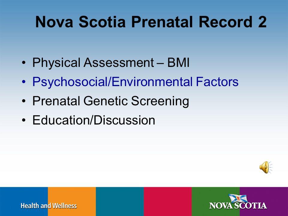 Maternal BMI and Weight Gain BMI<20: 28 to 40 lbs BMI 20-27:25-35 lbs BMI 27-29:15-25 lbs BMI > 29:15 lbs Health Canada –Gestational Weight Gain Recom