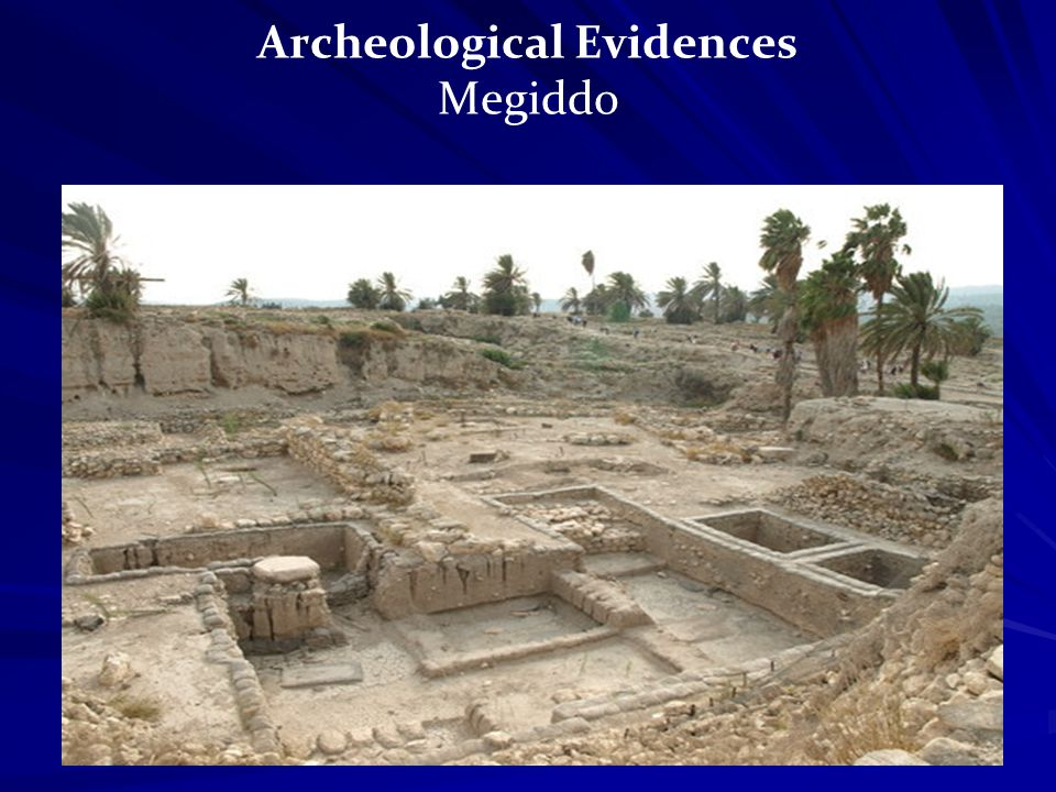 Archeological Evidences Megiddo