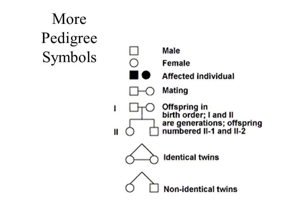 More Pedigree Symbols