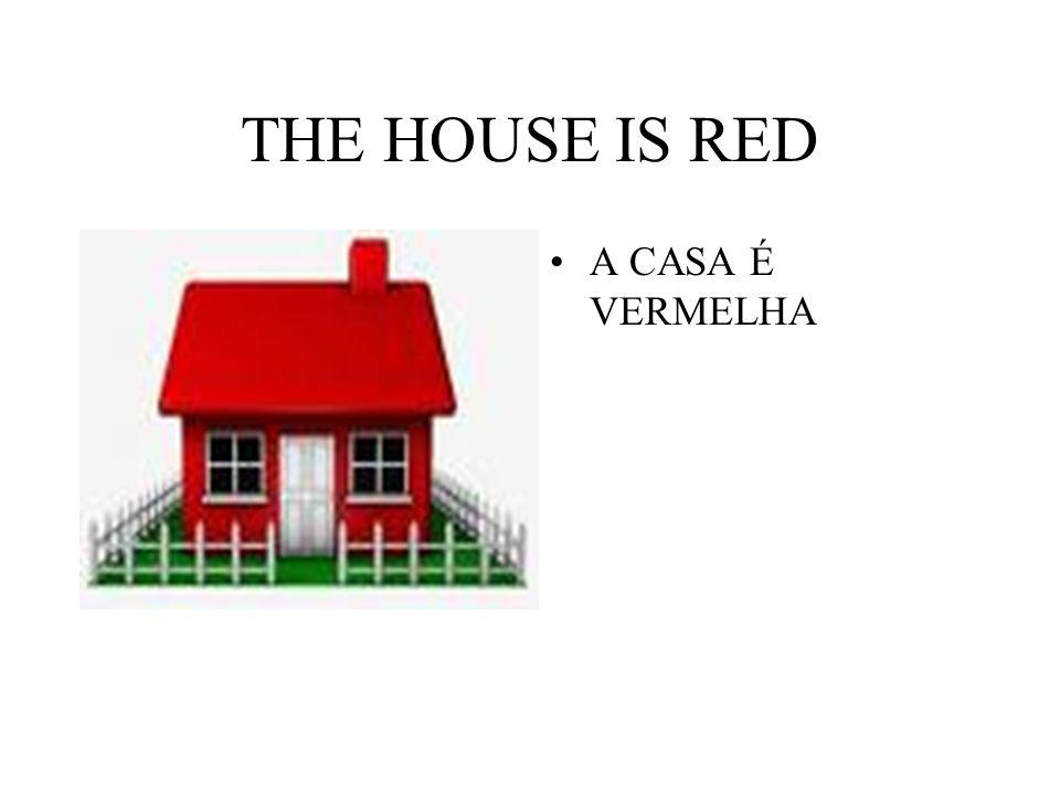 THE HOUSE IS RED A CASA É VERMELHA