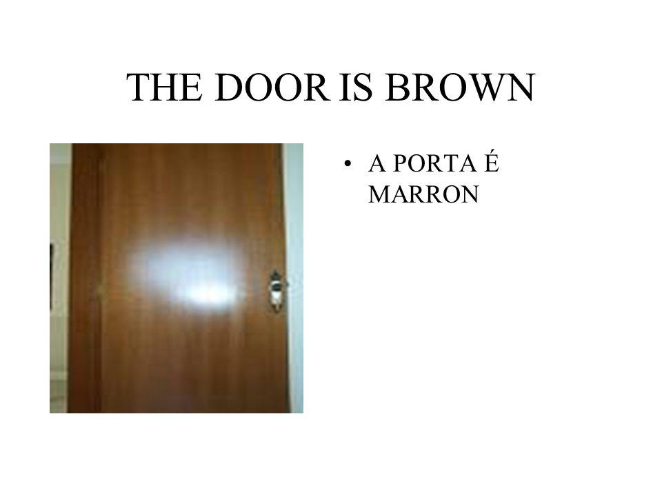 THE DOOR IS BROWN A PORTA É MARRON