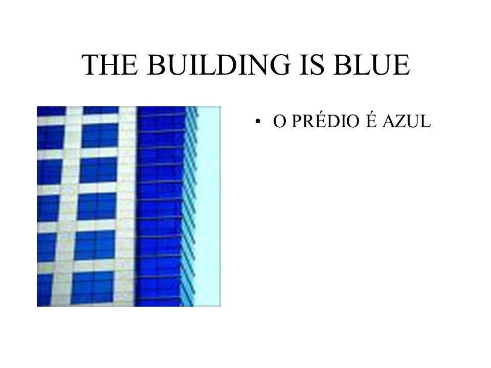 THE BUILDING IS BLUE O PRÉDIO É AZUL