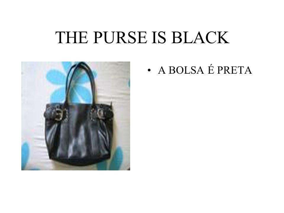THE PURSE IS BLACK A BOLSA É PRETA