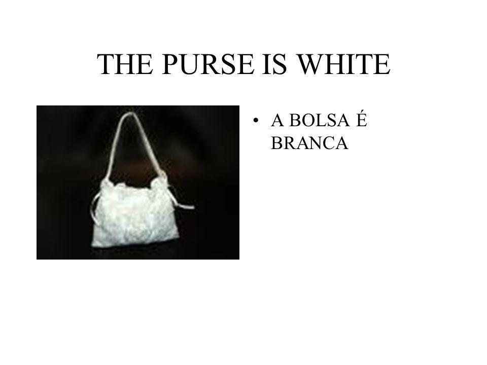 THE PURSE IS WHITE A BOLSA É BRANCA