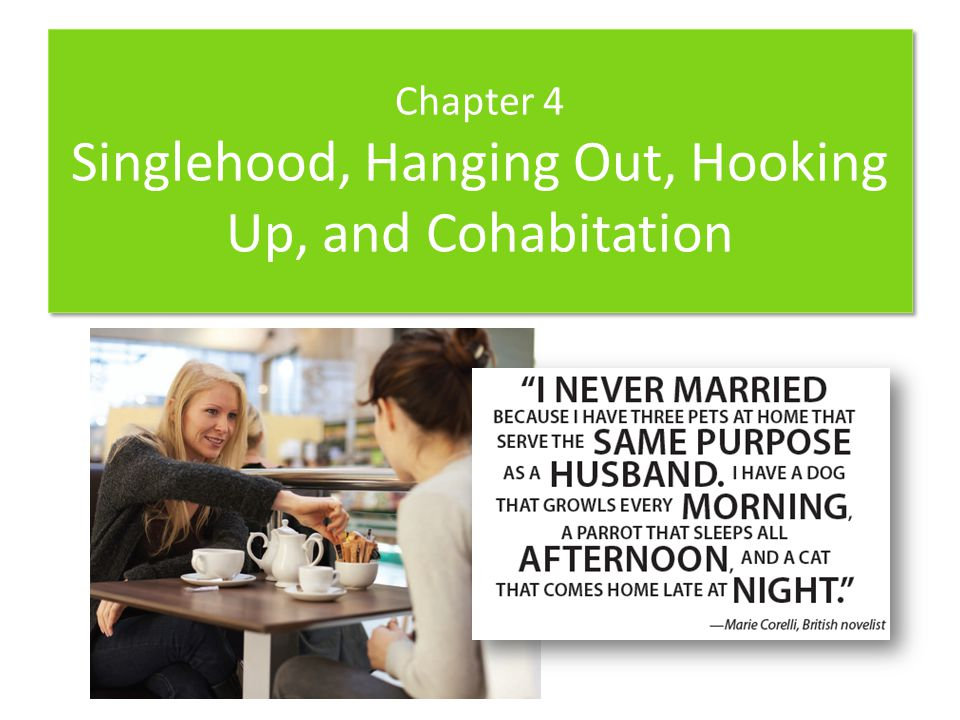 Chapter Sections 4-1 Singlehood 4-2 Categories of Singles 4-3 Ways of Finding a Partner 4-4 Intentional Communities