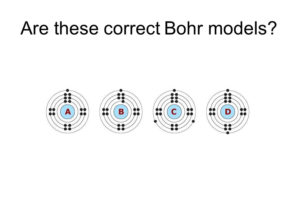 Are these correct Bohr models?