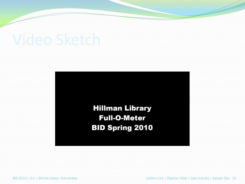 Caitlinn Cork | Deanna Miller | Oren Kravetz | Satyajit Das 35BID 2010 | A.4 | Hillman Library Full-o-Meter Video Sketch