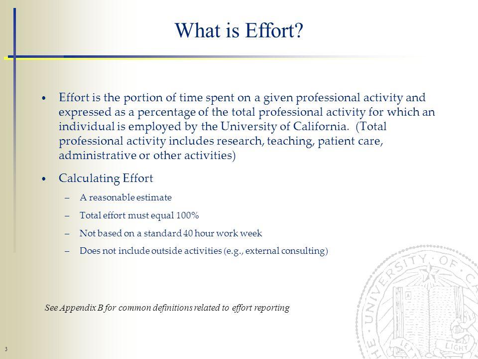 3 What is Effort.
