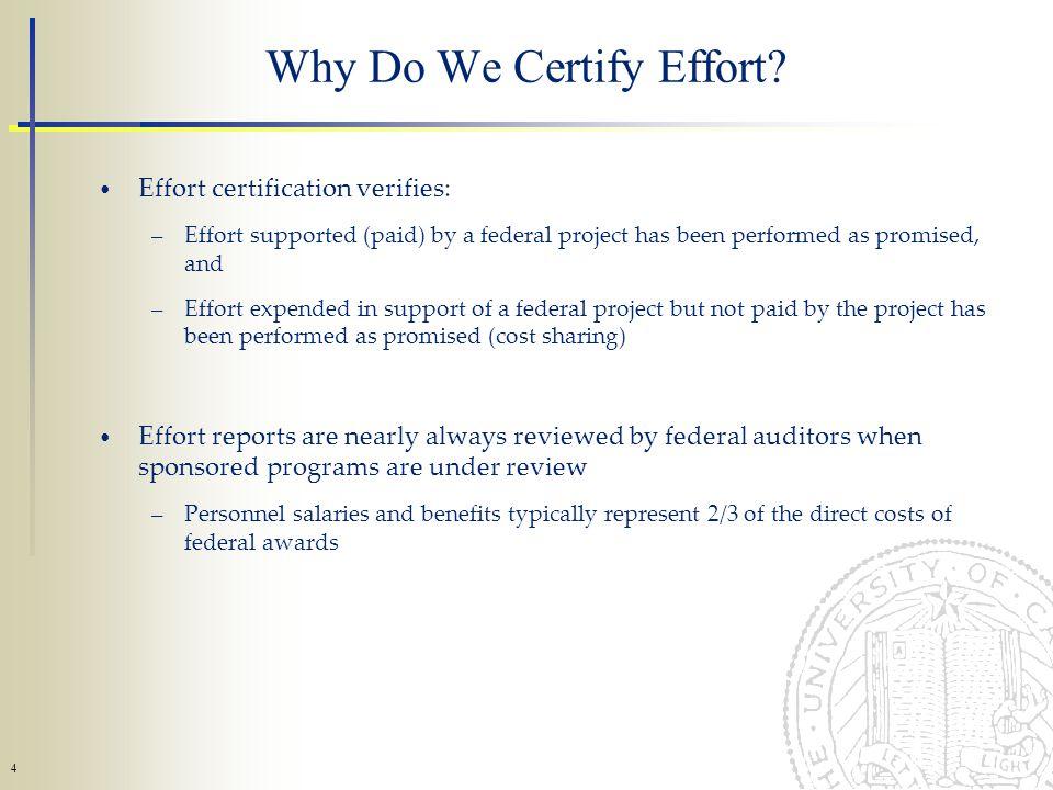 4 Why Do We Certify Effort.