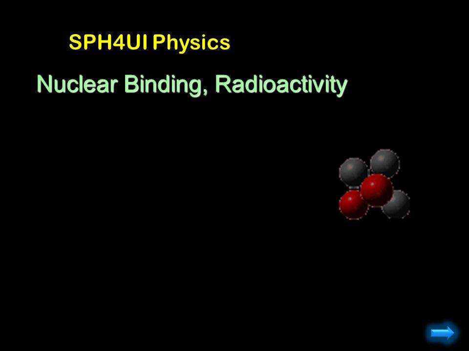 Nuclear Binding, Radioactivity SPH4UI Physics