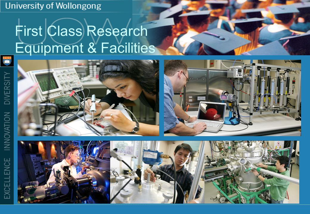 First Class Research Equipment & Facilities