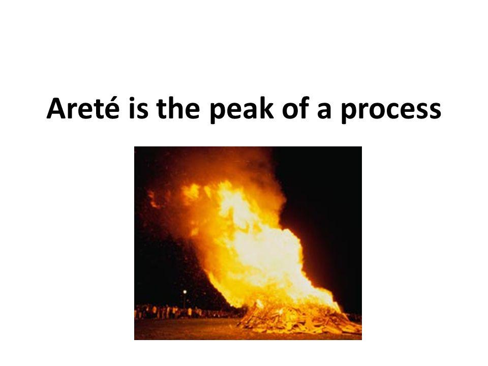 Areté is the peak of a process