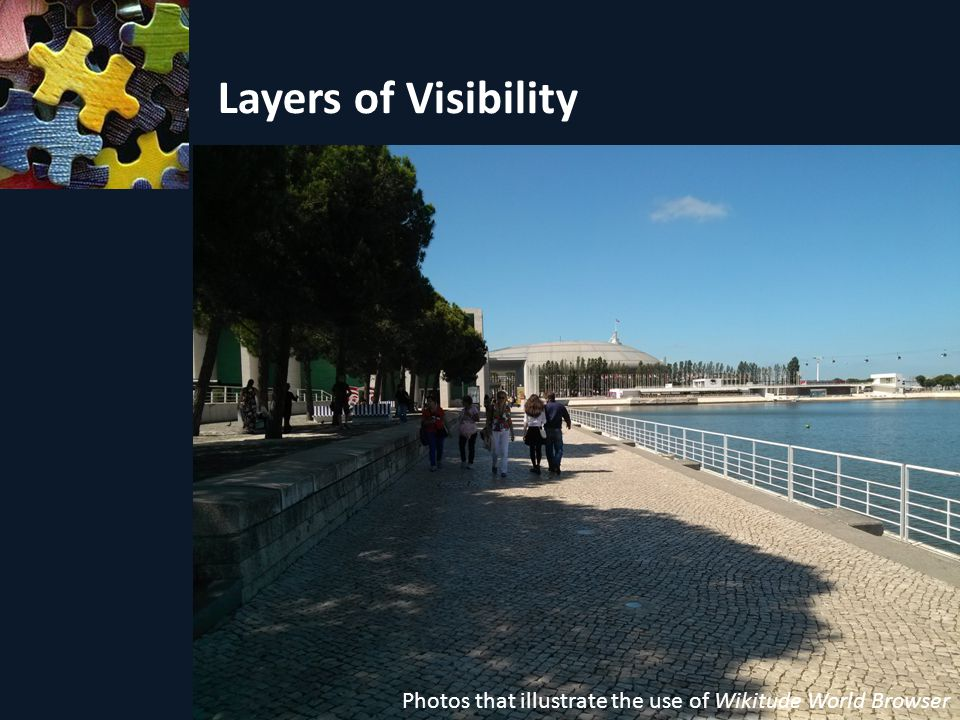 Layers of Visibility Photos that illustrate the use of Wikitude World Browser