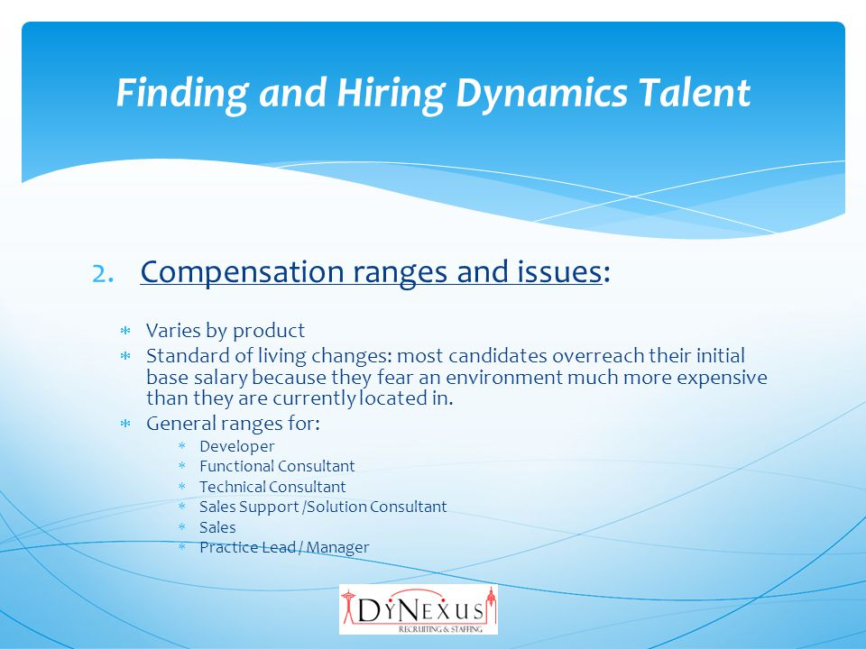 3.Where to find candidates: Job boards and resume databases: Monster CareerBuilder Dice DynamicsCareers Social Networks: LinkedIn Facebook Twitter Finding and Hiring Dynamics Talent