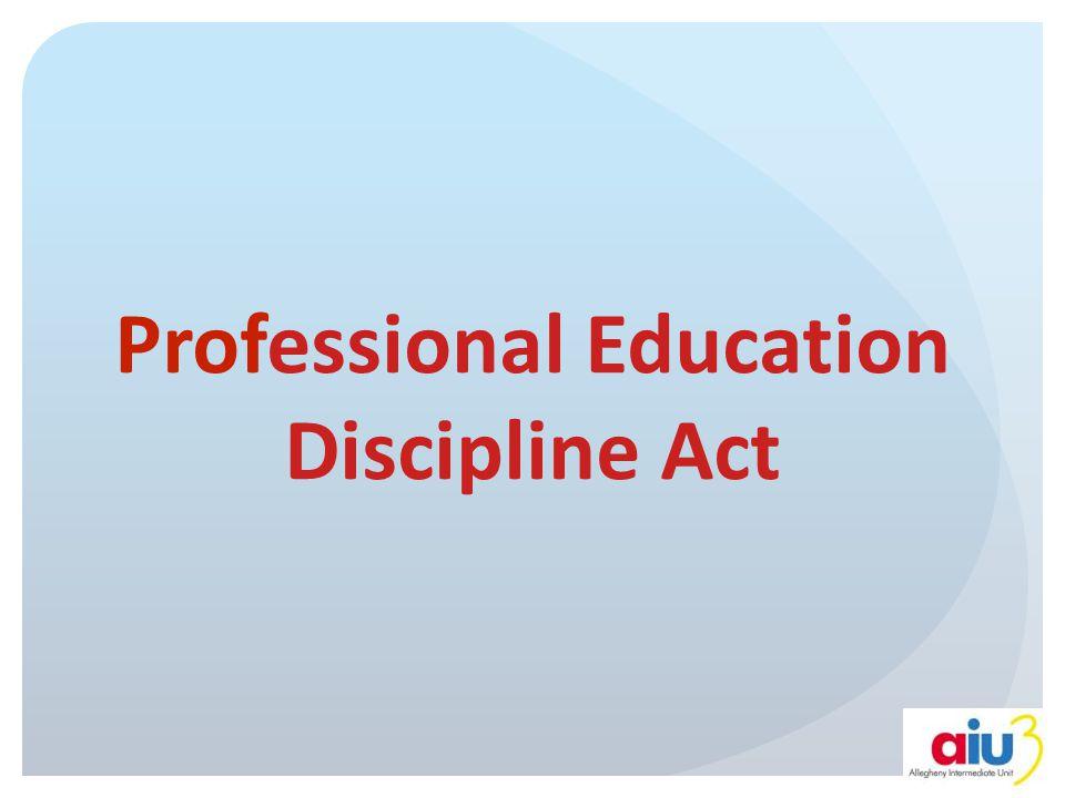 Professional Education Discipline Act