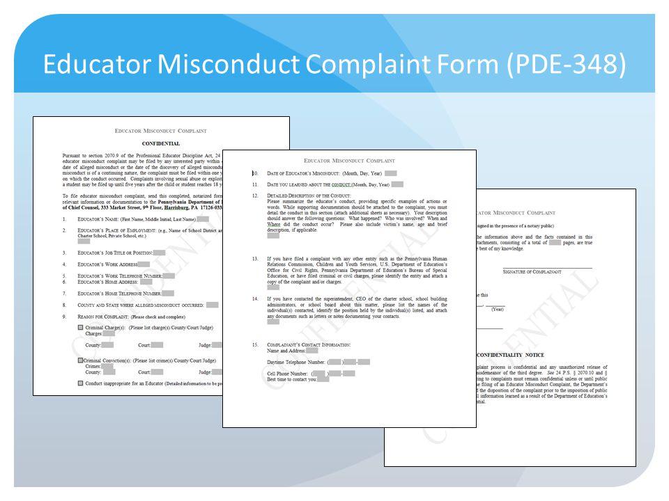 Educator Misconduct Complaint Form (PDE-348)