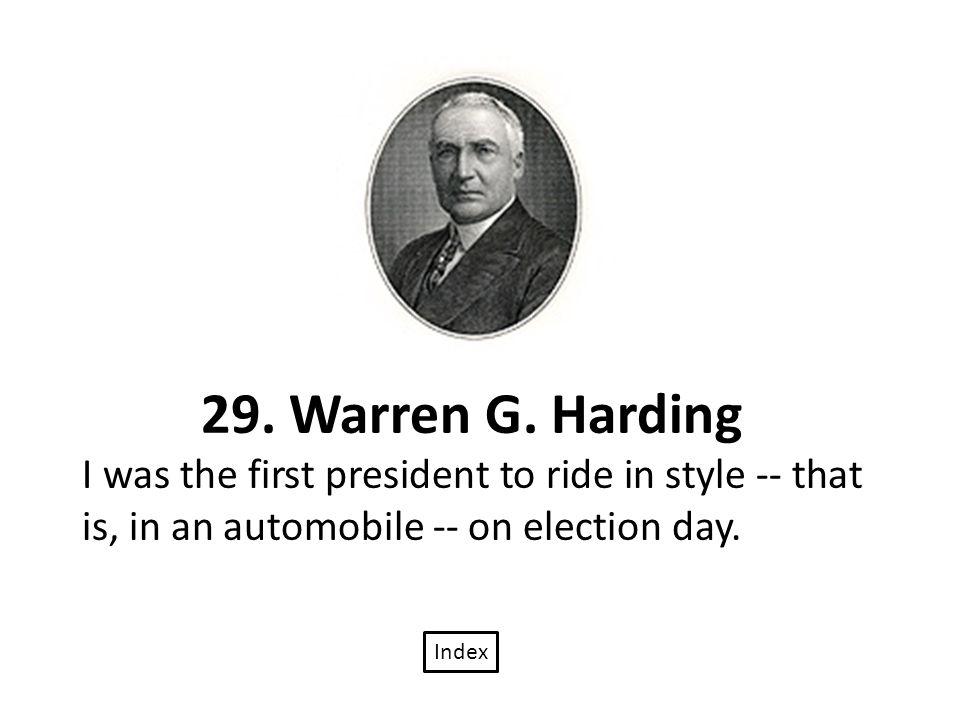29. Warren G.