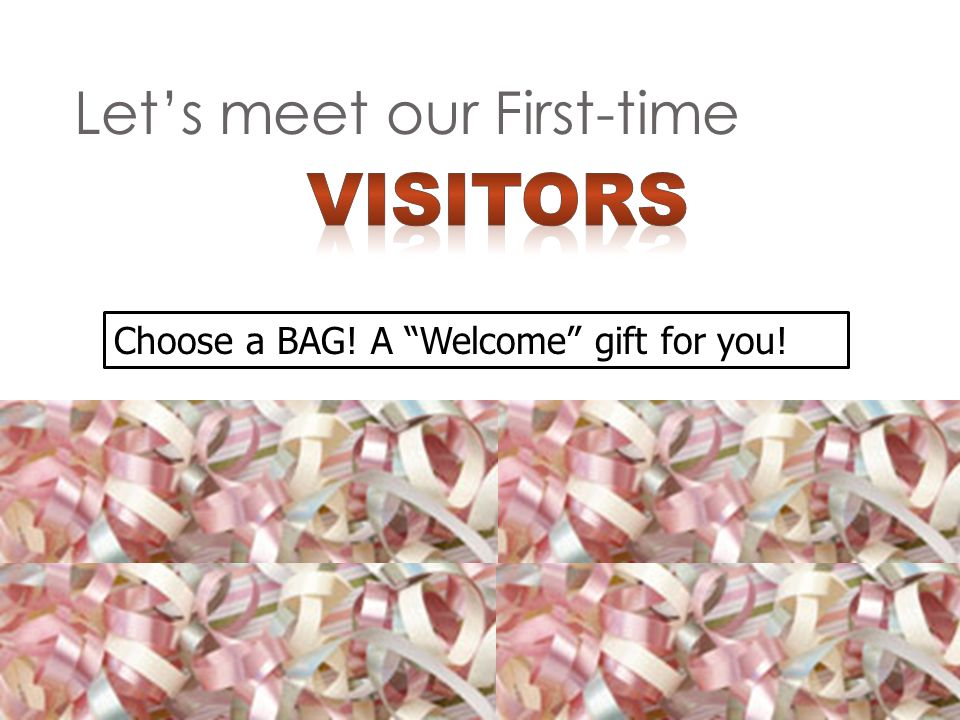 Lets meet our First-time Choose a BAG! A Welcome gift for you!