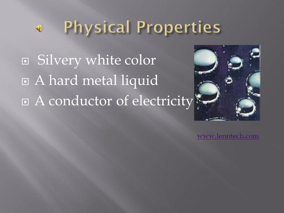 By Kristen http://www.webelements.com/mercury/