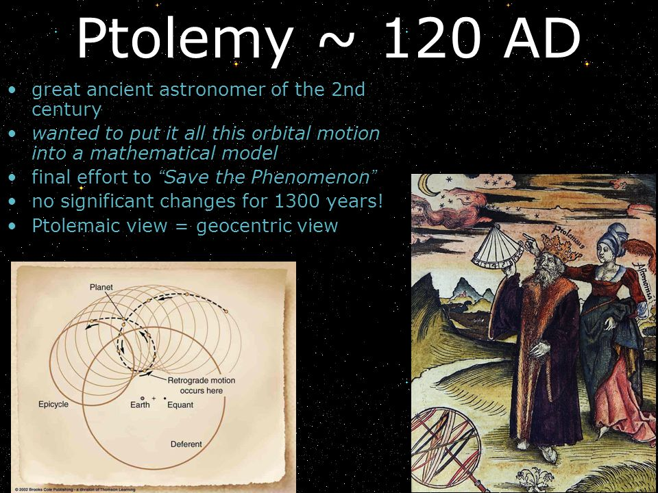 great ancient astronomer of the 2nd century wanted to put it all this orbital motion into a mathematical model final effort to Save the Phenomenon no