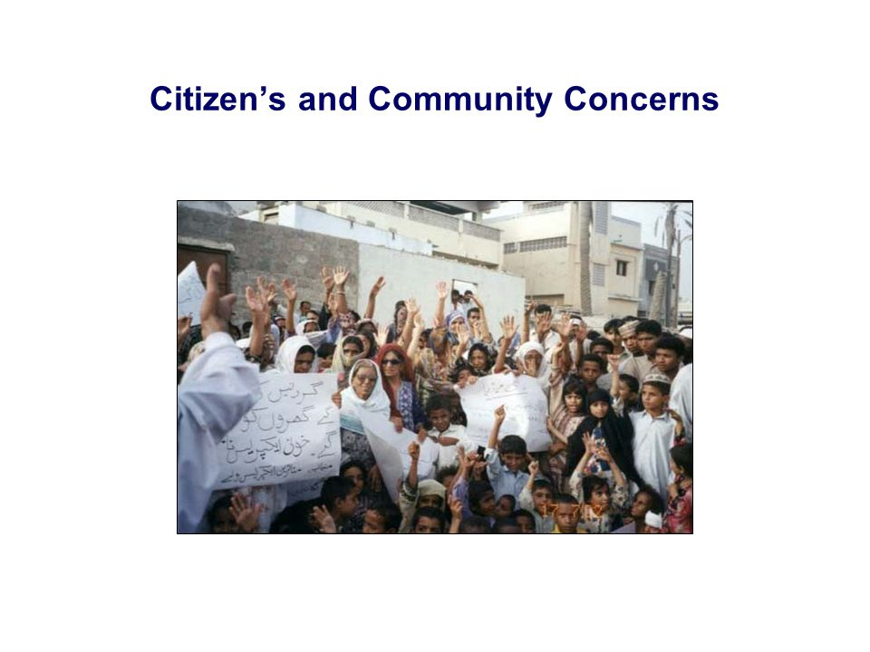 Citizens and Community Concerns