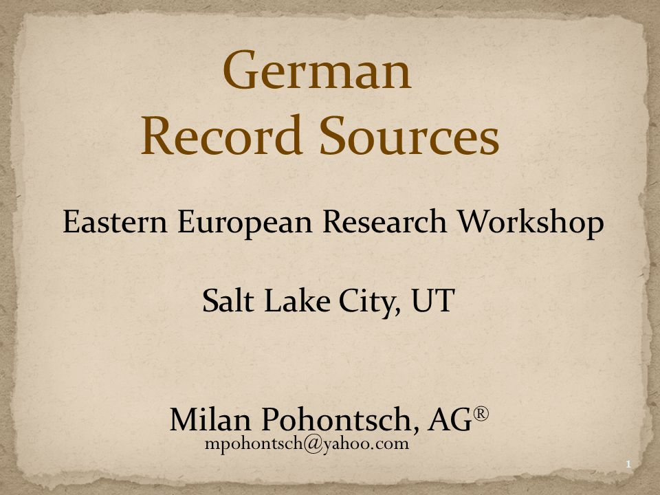 Language-Related Sources 22 Dictionaries German - English – German Latin – English Local dialects – German Google Translate German thesaurus (Deutsches Wörterbuch) Wikipedia Search engines
