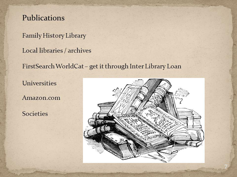 Ortsfamilienbücher = Village lineage books (one-place studies) 8