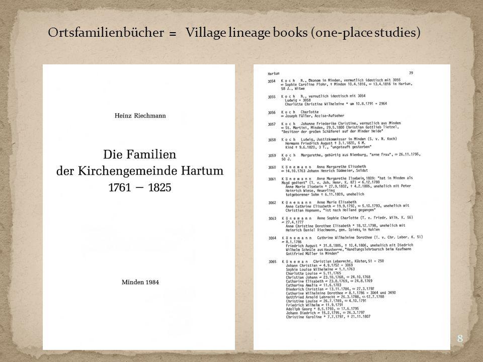 Geschlechterbücher = Lineage books 9