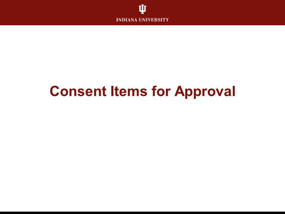 Consent Items for Approval