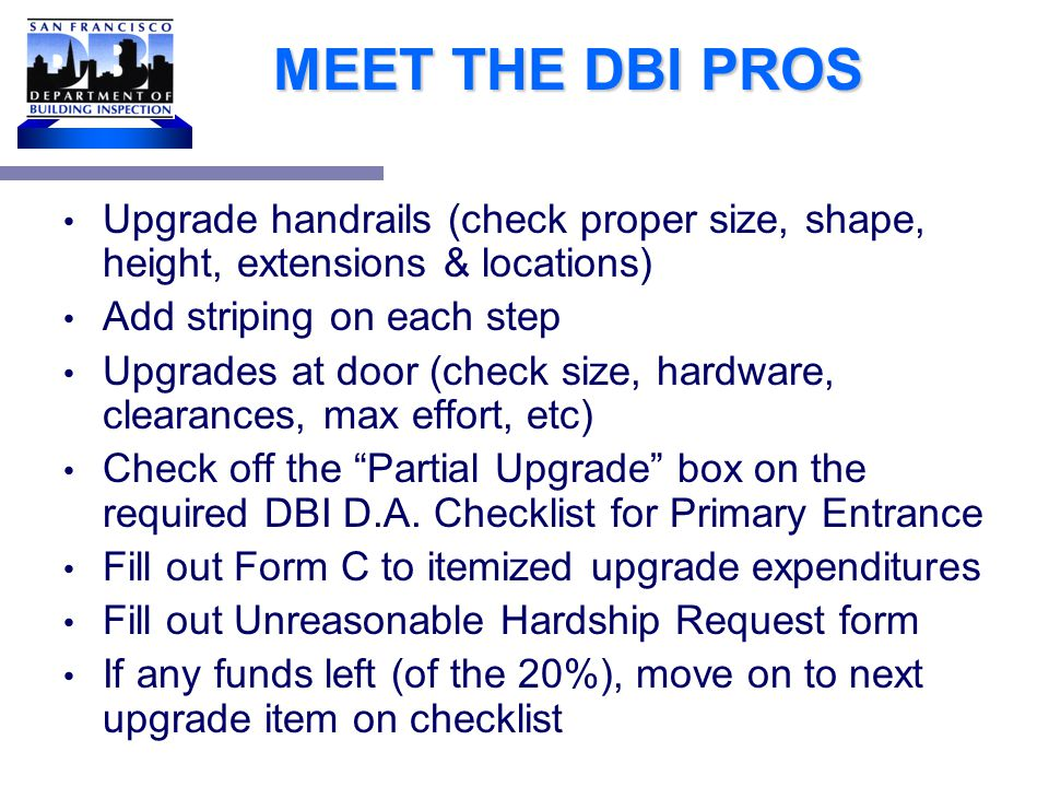 MEET THE DBI PROS