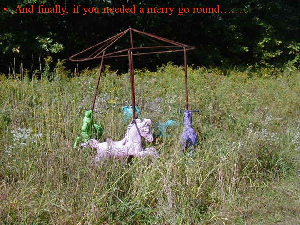 And finally, if you needed a merry go round……