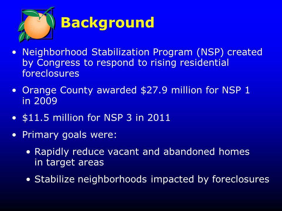 Background Clerk of Courts Orange County, Florida Foreclosure Filings Through Nov 2012