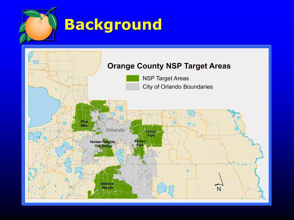 NSP Rental Activity Emerald Villas Core Partnership Team: Orange County Seville Place Preservation LLC (Joint venture) Related Urban Development Group Orlando Neighborhood Improvement Corp.