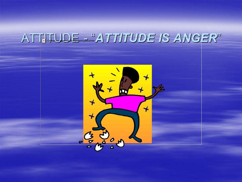 ATTITUDE - ATTITUDE IS ANGER
