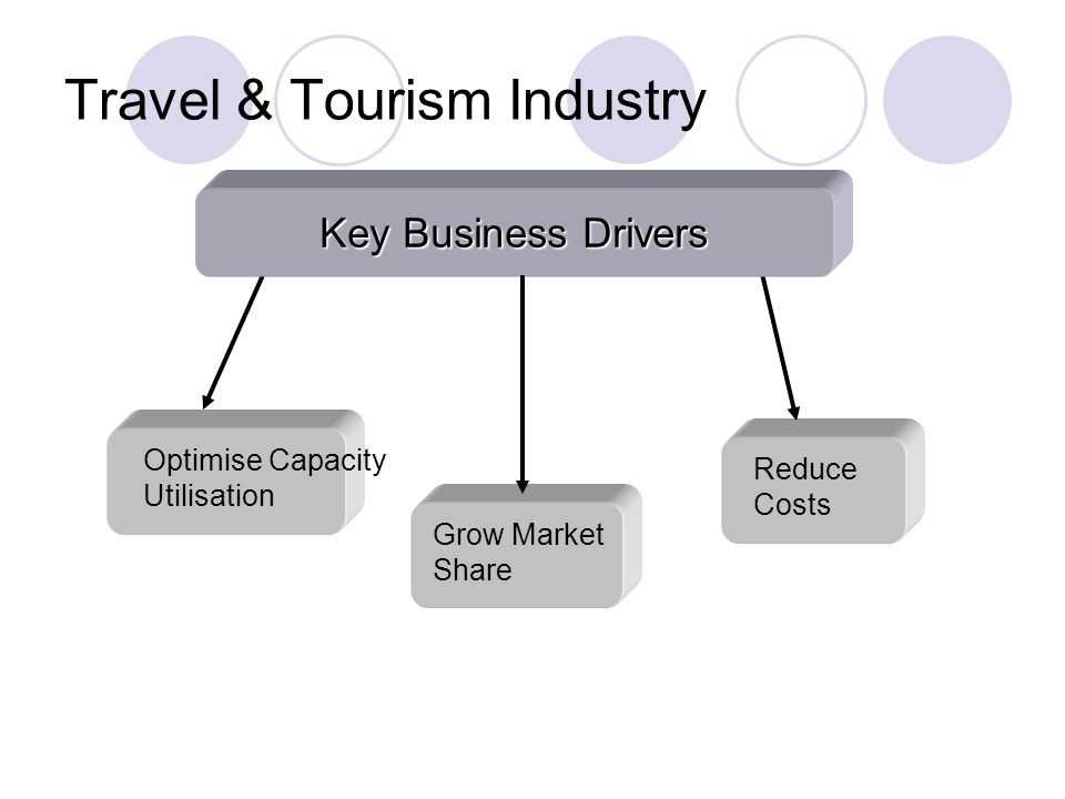 Travel & Tourism Industry Optimise Capacity Utilisation Reduce Costs Key Business Drivers Grow Market Share