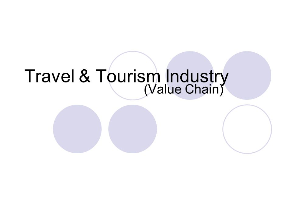 Travel & Tourism Industry (Value Chain)