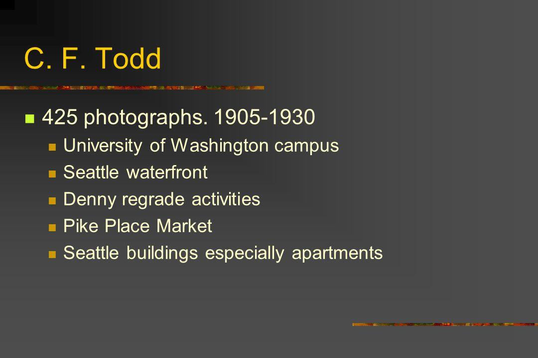 C.F. Todd 425 photographs.