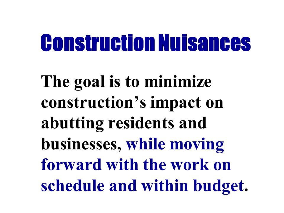 NOISE MITIGATION COST This mitigation effort represents about 0.15% of project cost.
