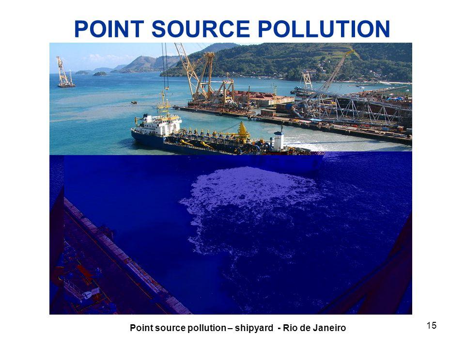 POINT SOURCE POLLUTION Point source pollution – shipyard - Rio de Janeiro 15